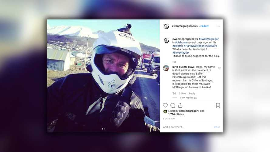 Ewan McGregor Spotted In Argentina On ADV LiveWire