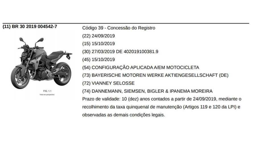 BMW F 850 R Patent Filing