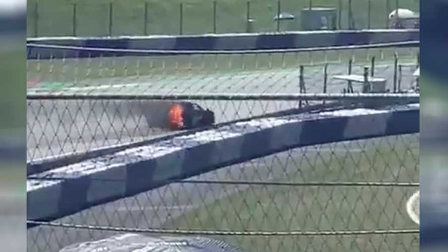 Watch Smoke Pour From McLaren Senna On Fire During Exhibition Lap