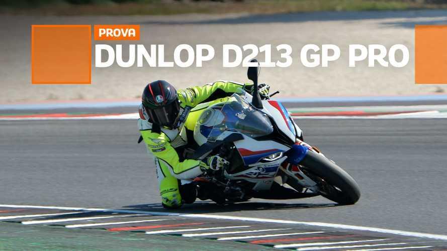 Dunlop D213 GP PRO, la prova penuamtici in pista