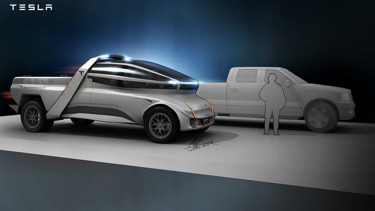 Star Wars Artist Imagines The Tesla Pickup Truck