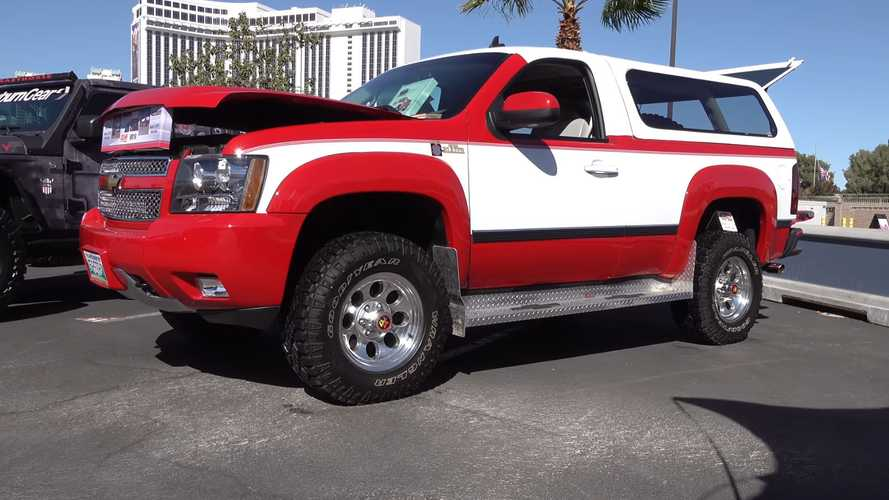 Custom Chevrolet Silverado Is A Retro K5 Blazer