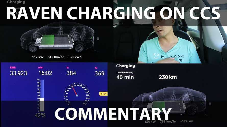 Tesla Model S Raven Charging Power Tested At IONITY CCS: Video