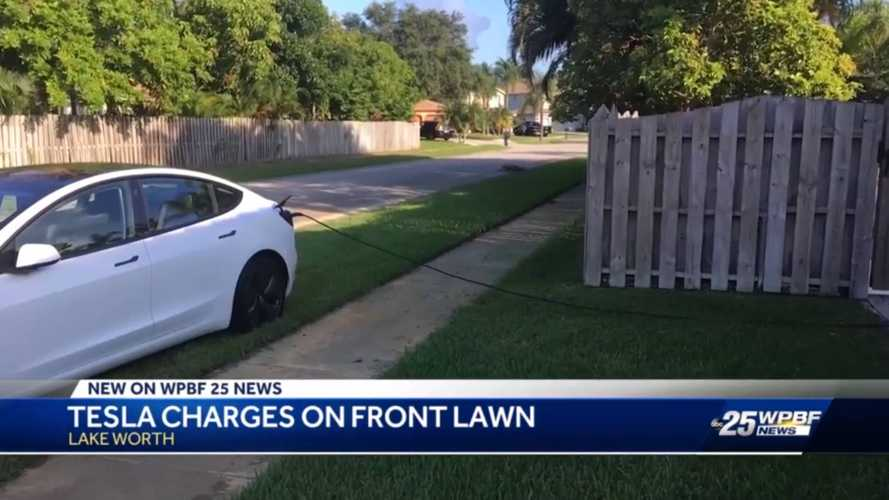 Tesla Driver 'Borrows' Electricity From House Without Warning Owner