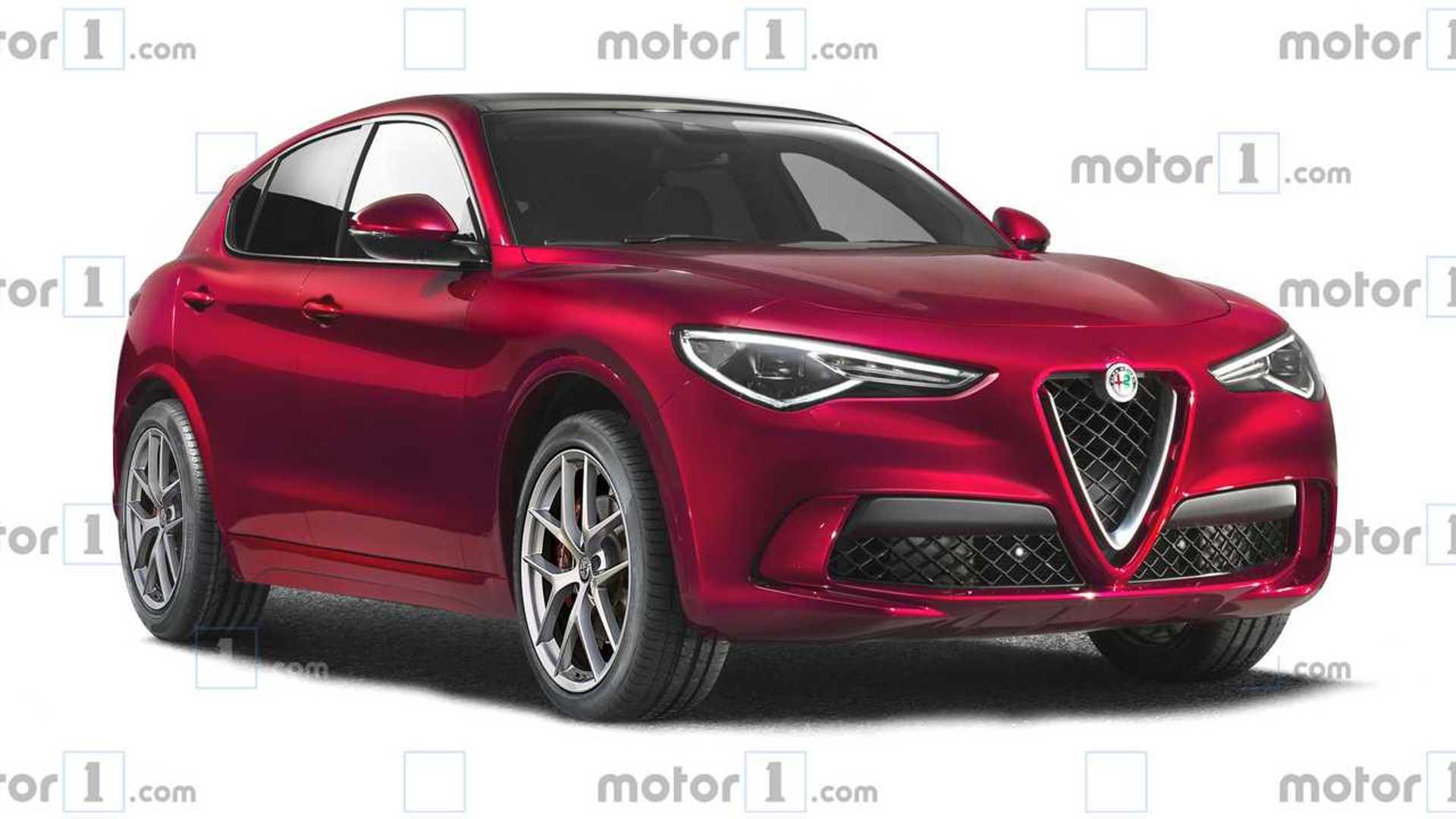 Alfa Romeo Stelvio Facelift Rendering Shows Minor Tweaks