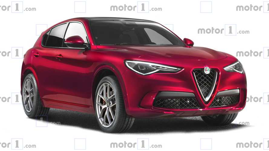 Alfa Romeo Stelvio facelift rendering shows minor tweaks