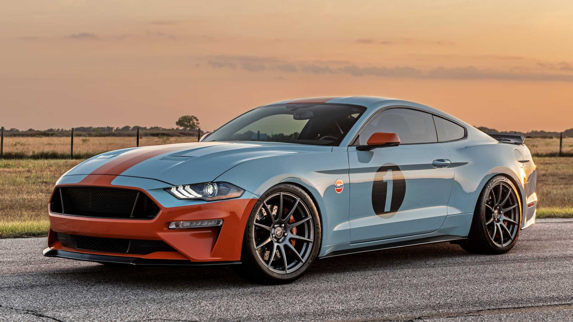 "[""Brown Lee Performance Gulf Heritage Mustang""]"