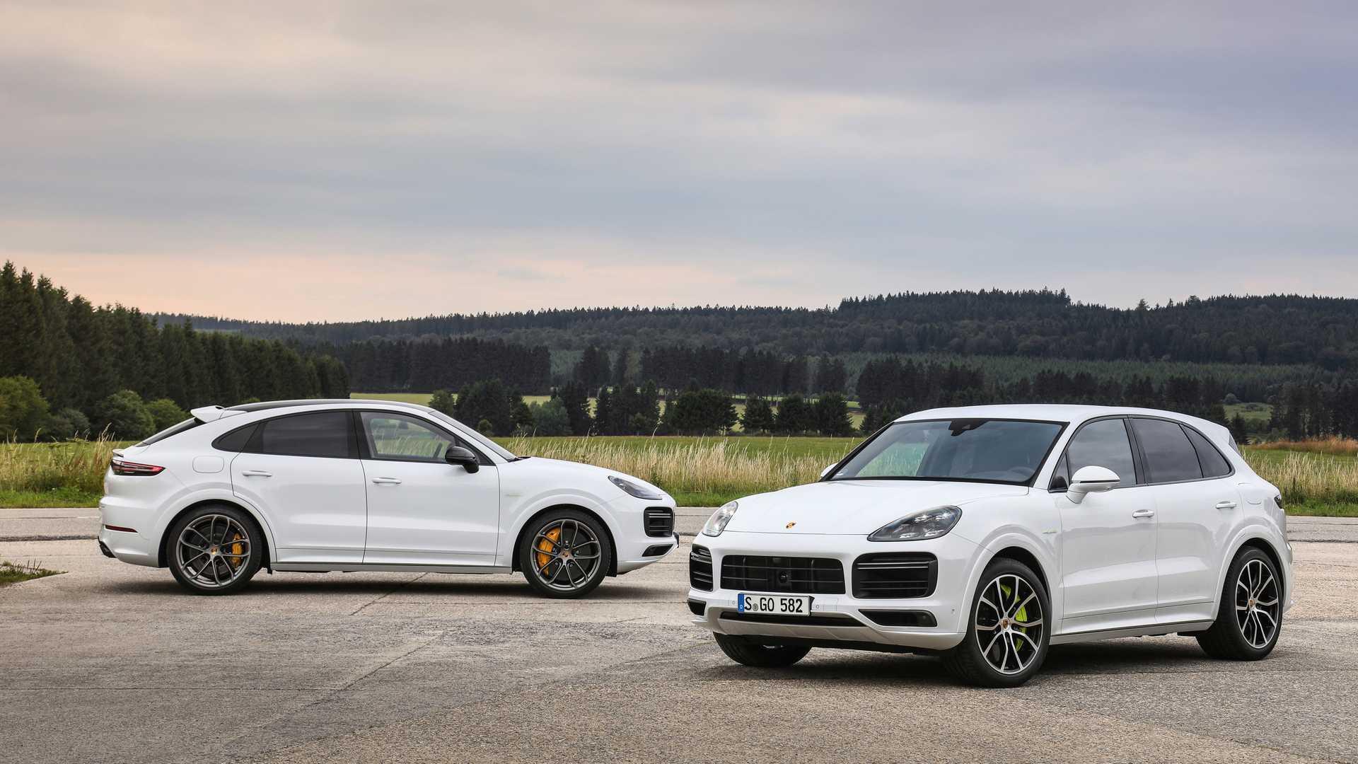 2020 Porsche Cayenne Turbo S E-Hybrid, Coupe Turbo S E-Hybrid, and Coupe E-Hybrid