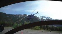 mclaren senna vs helicoptere