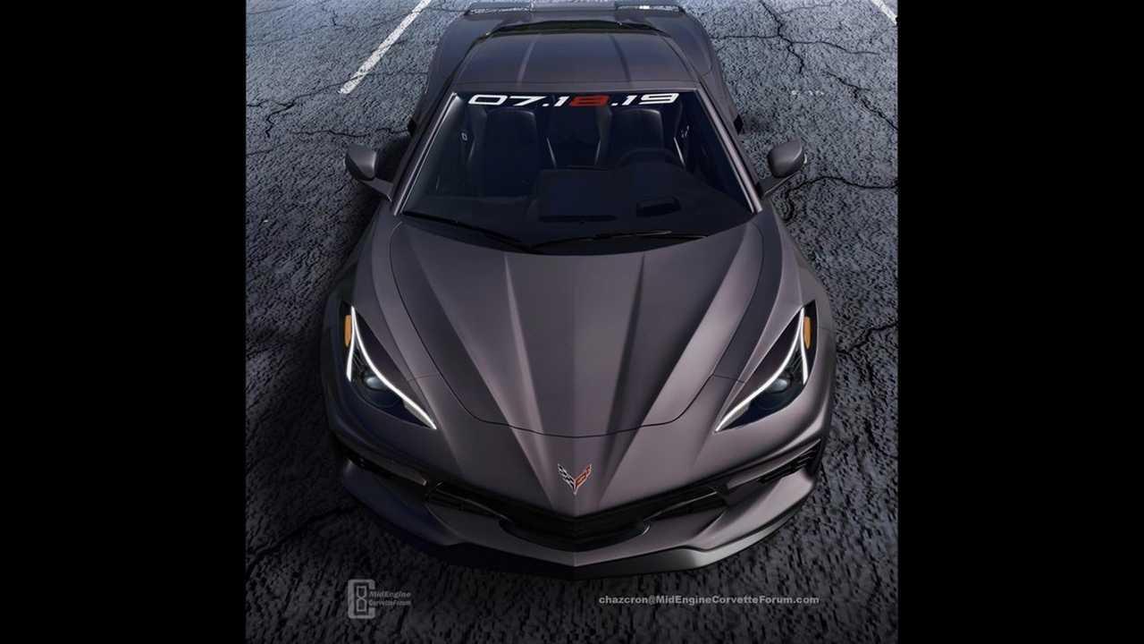 Ortadan motorlu C8 Chevrolet Corvette Render
