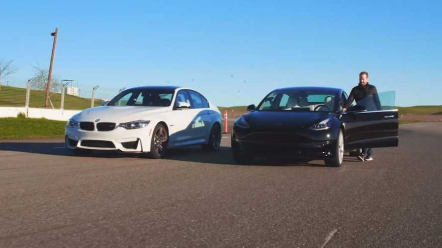 Top Gear pits BMW M3 against Tesla Model 3 Performance