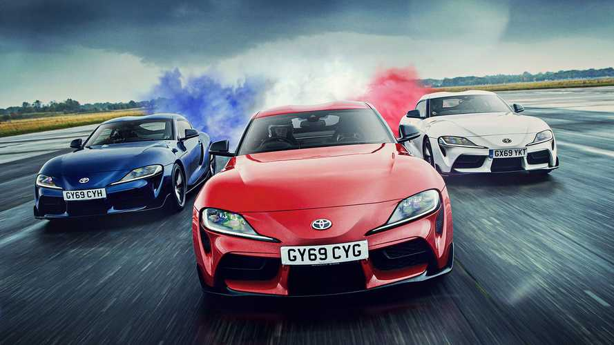 UK Toyota Supra precision demo mimics airshow stunts on ground