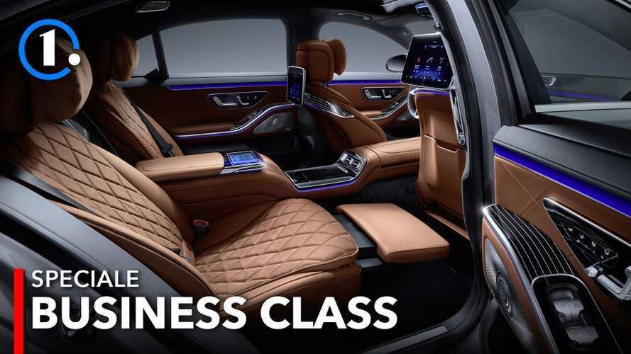 Kabin Penumpang Mercedes-Benz S Class, Kelas Bisnis dalam Sebuah Mobil