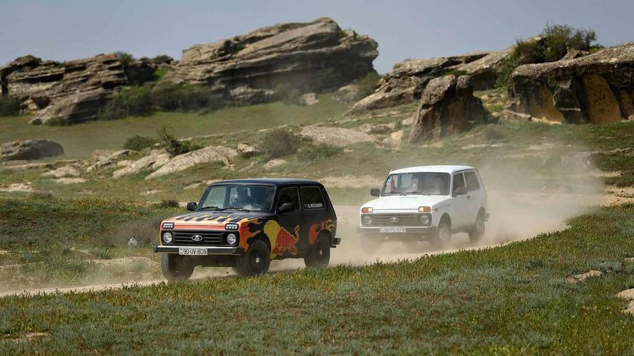 Watch Verstappen And Ricciardo Trade F1 Cars For A Lada Niva 4x4