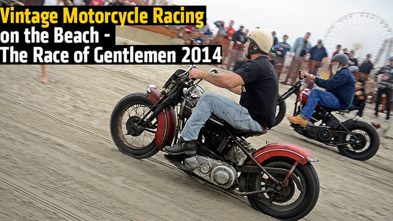 Vintage Motorcycle Racing on the Beach - The Race of Gentlemen 2014