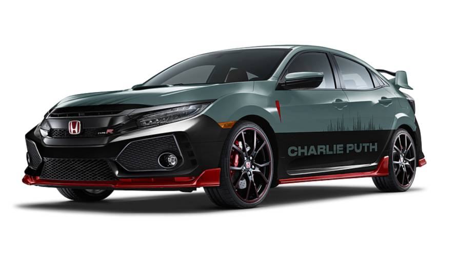 Pop star Charlie Puth creates exterior for Honda Civic Type R