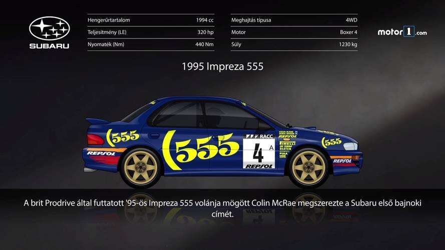 Látványos animáción a Subaru WRX modellek története és fejlődése