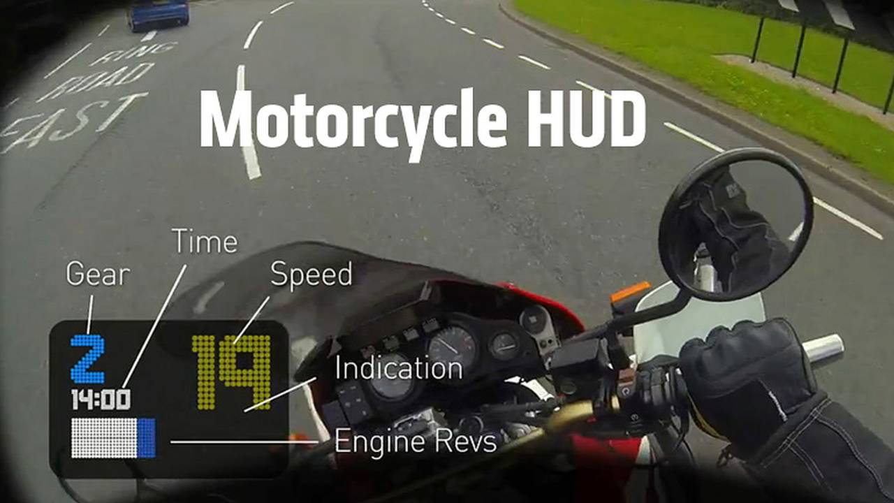 First Look: Bike HUD - Motorcycle Helmet Heads-Up Display