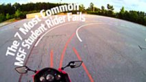 the 7 most common msf student rider fails