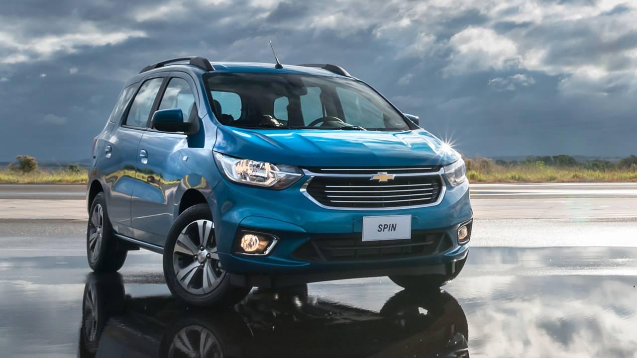 Mais vendidos na 1ª quinzena: VW Gol em 2º e Chevrolet Spin no top 10 Chevrolet-spin-ltz-2019