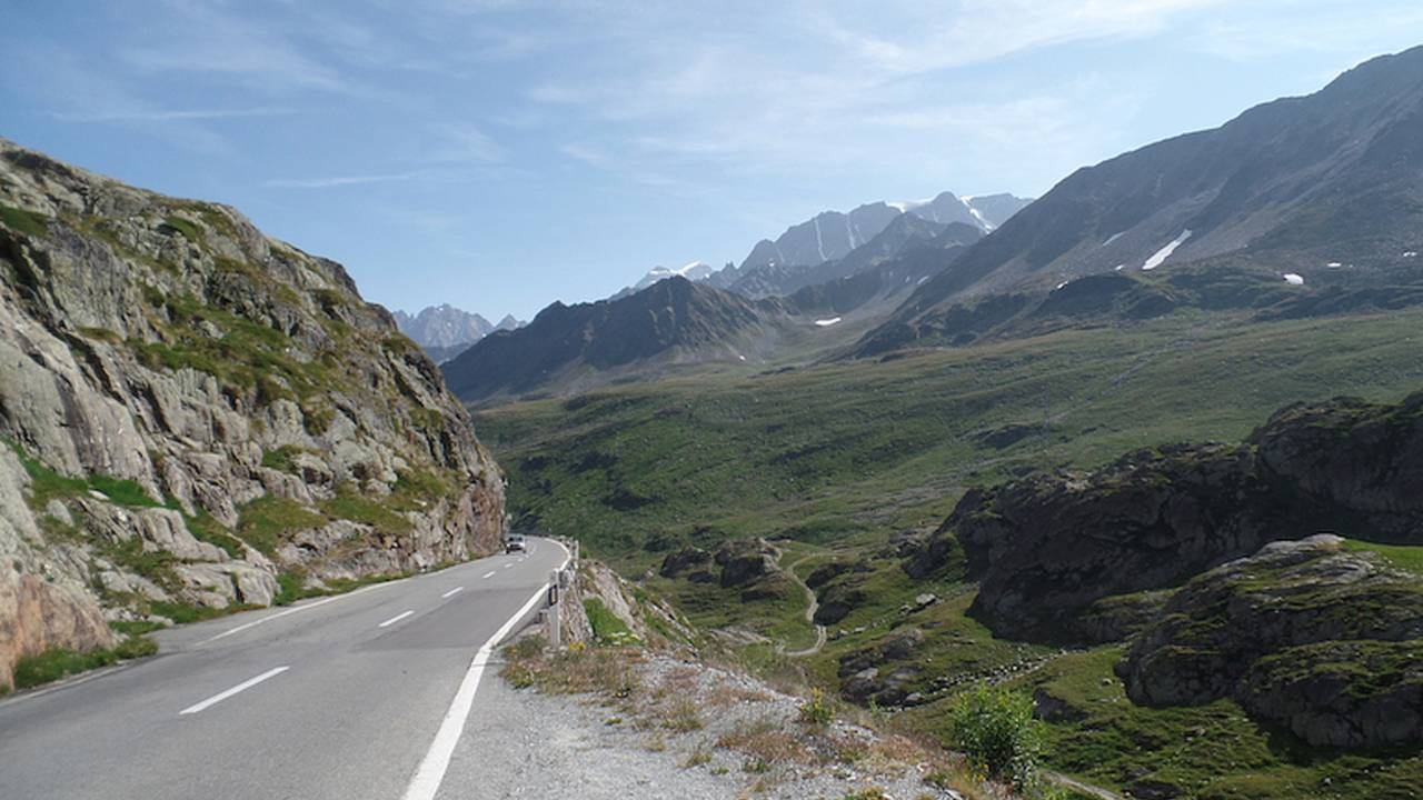 View from the top of Great St. Bernard Pass