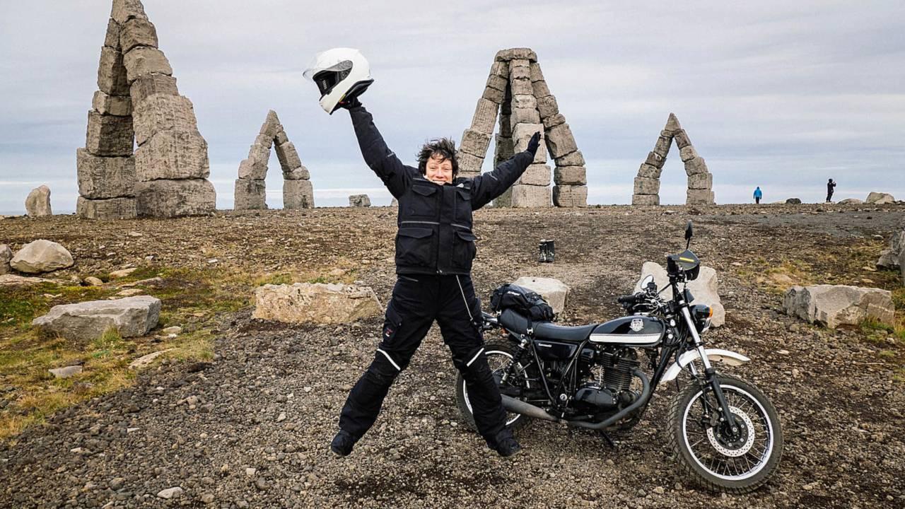 UK to Iceland - 2200 Miles on a Kawi TC250