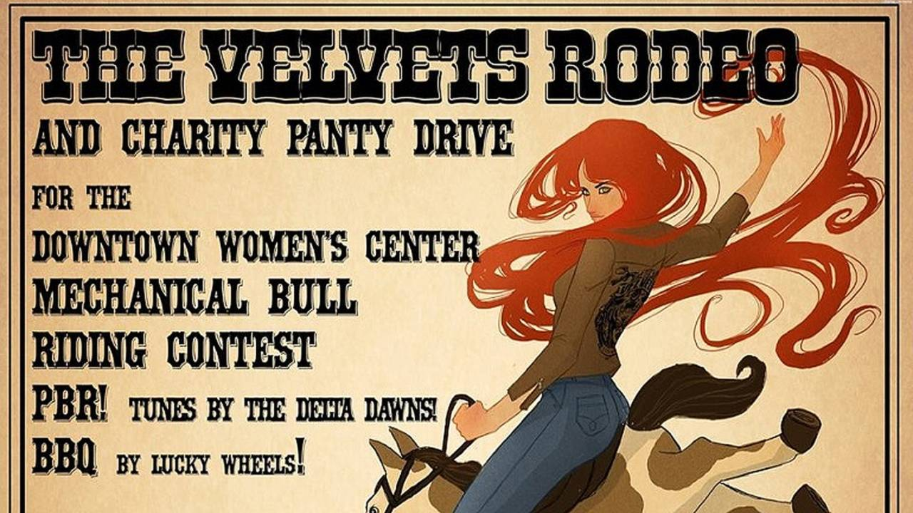 Velvets Rodeo and Charity Panty Drive Rides Out This Weekend