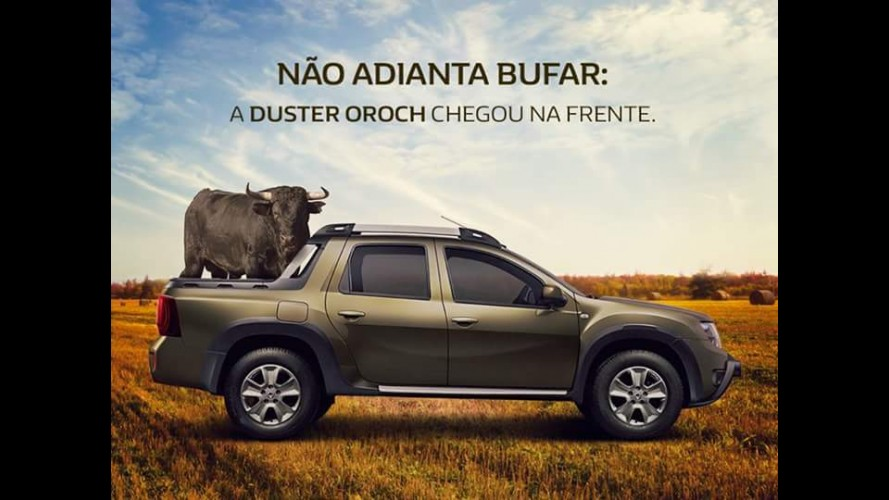 "Duster Oroch ""dá boas vindas"" a Fiat Toro com anúncio provocativo"