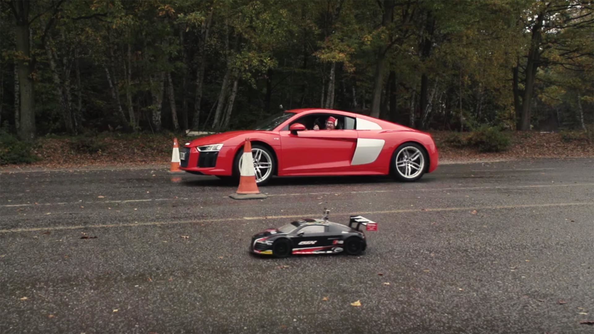 Watch An Audi R8 Rc Car Race The Real Thing Drag