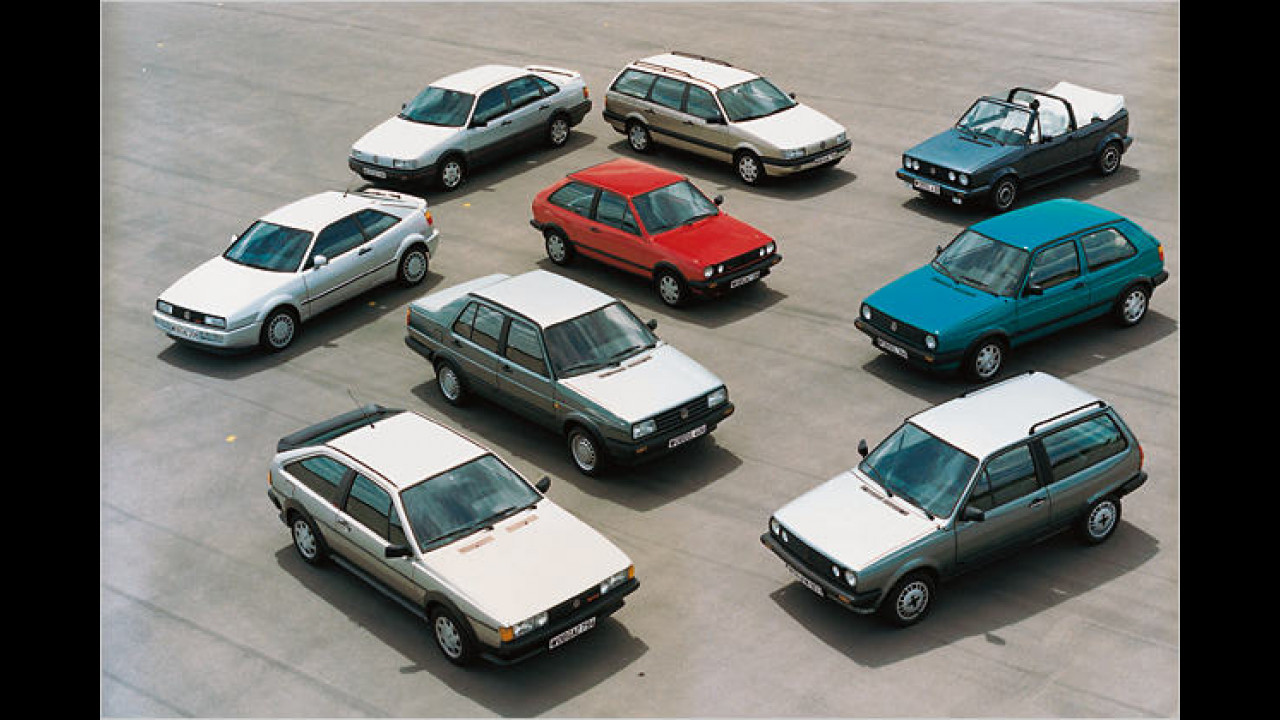 1988: VW-Modellpalette