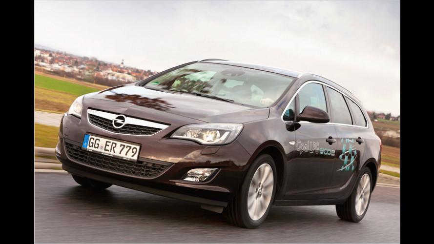 Opel Astra und Astra Sports Tourer jetzt mit LPG-Motor