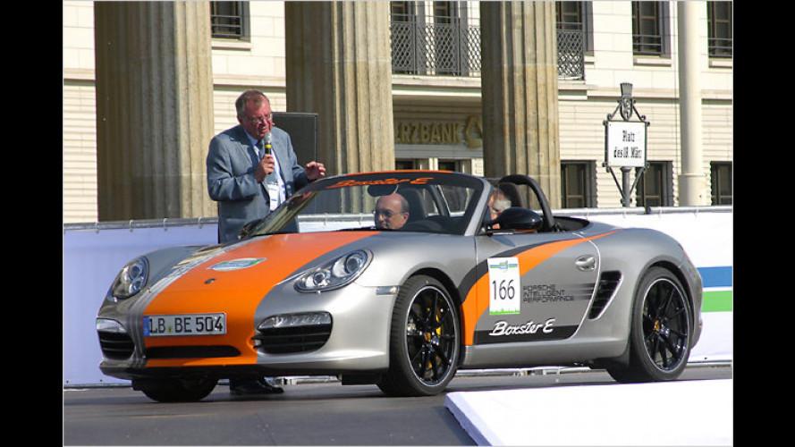 Porsche Boxster E: Forschen mit Spaß