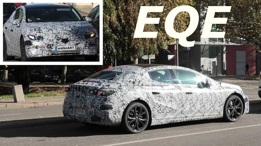 Camouflaged Mercedes-Benz EQE Prototype Spotted In Traffic