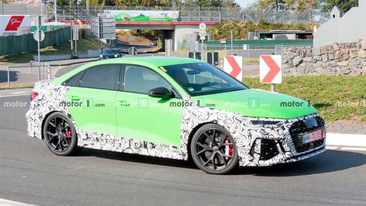 2021 Audi RS3 Sedan Nurburgring Spy Photo Side