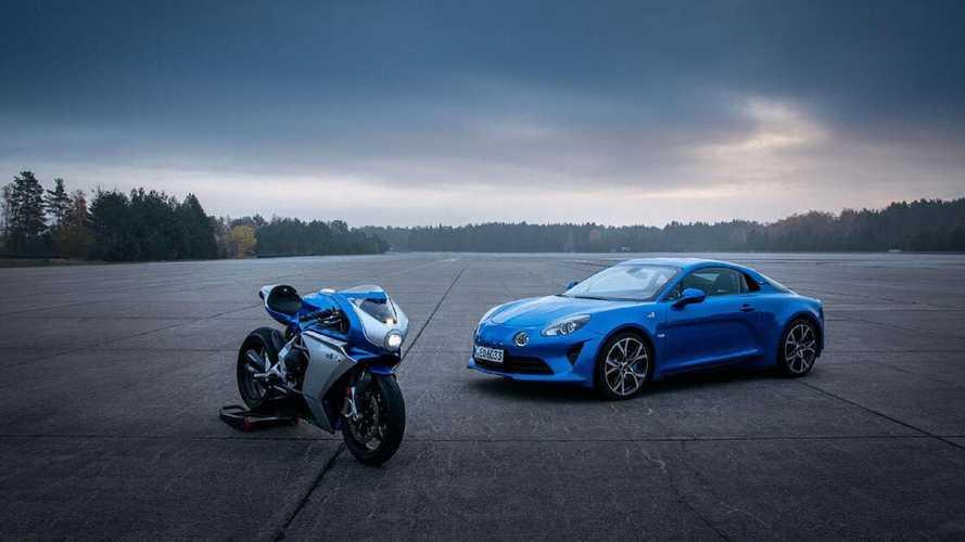 MV Agusta et Alpine s'associent et présentent une moto en édition limitée