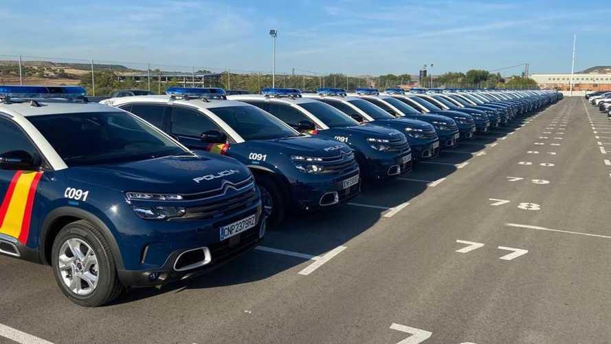 Les voitures de la police espagnole