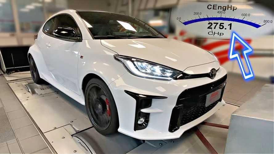 Toyota GR Yaris dyno run shows high horsepower for the hot hatch