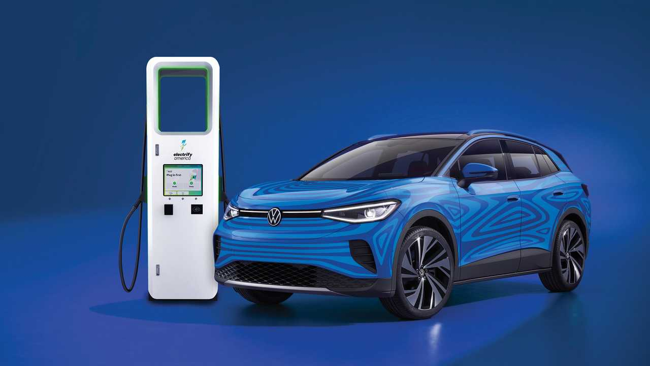 Volkswagen ID.4 at Electrify America fast charging station