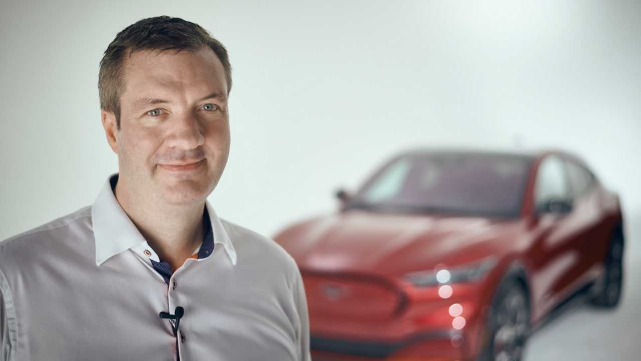 Darren Palmer, Ford's EV Boss, Teases Competition Saying Mach-E Bumpers Will Not Fall