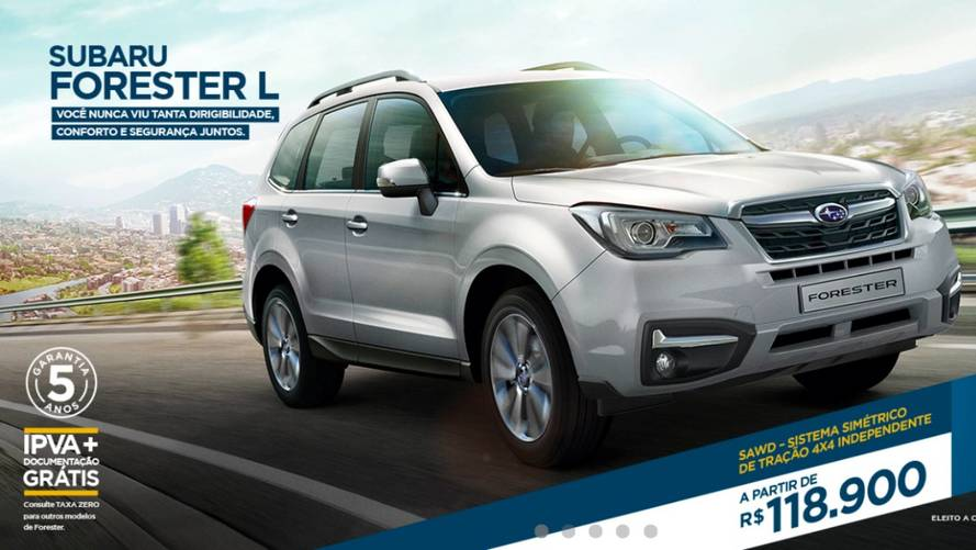 Subaru Forester ganha nova versão de entrada por R$ 118.900