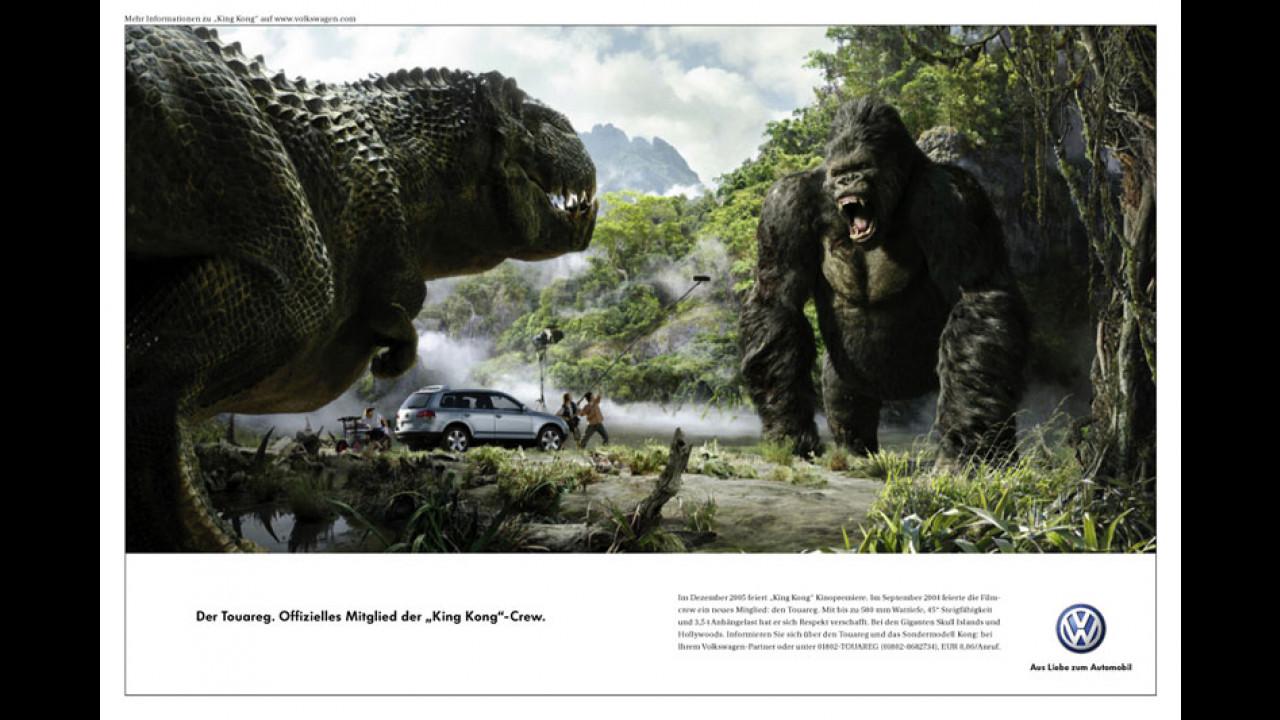 La Touareg nella campagna pubblicitaria di King Kong