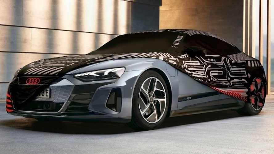 El Audi e-tron GT estrena una funda con la decoración del concept