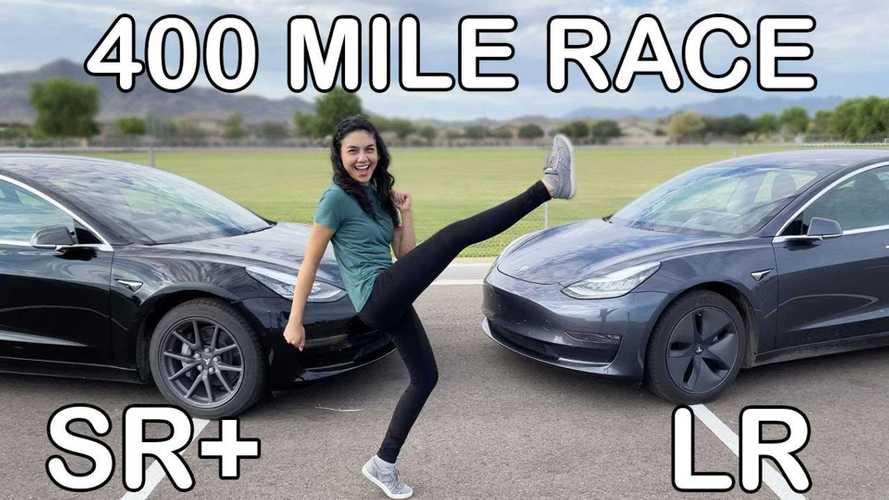 Tesla Model 3 SR+ Vs LR 400-Mile Road Trip