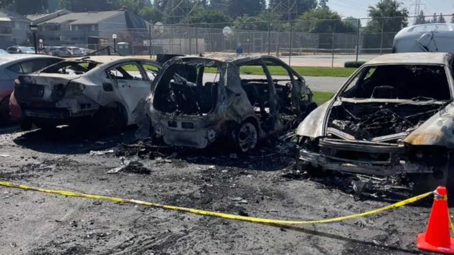Recalled 2017 Chevrolet Bolt EV Catches Fire In Parking Lot