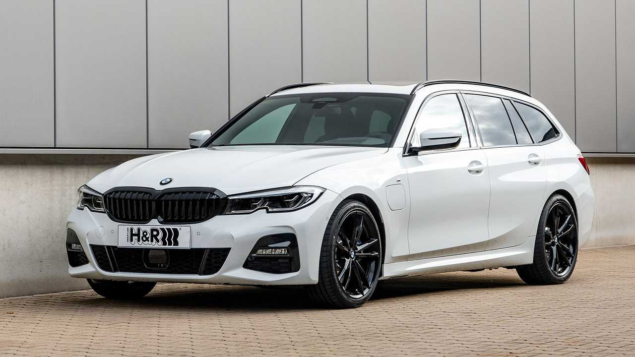 BMW 3er mit Plug-in-Hybrid-Antrieb und Tieferlegung von H&R
