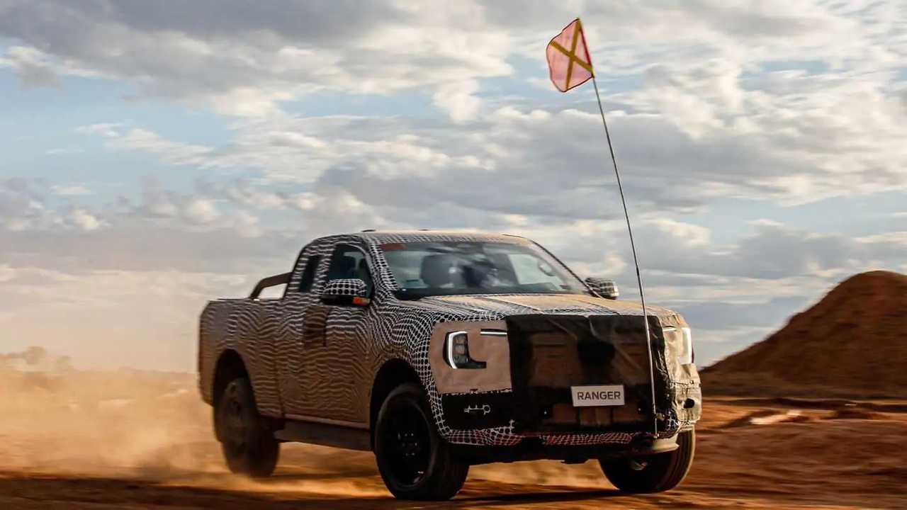 Ford Ranger 2023 - Le immagini dei primi test