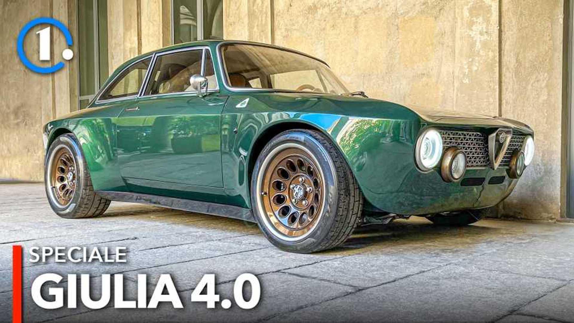 Alfa Romeo Giulia, lo spettacolare restomod col V6 della GTAm (video)