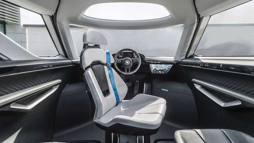 Porsche Vision Renndienst Electric Minivan Reveals Neat Interior