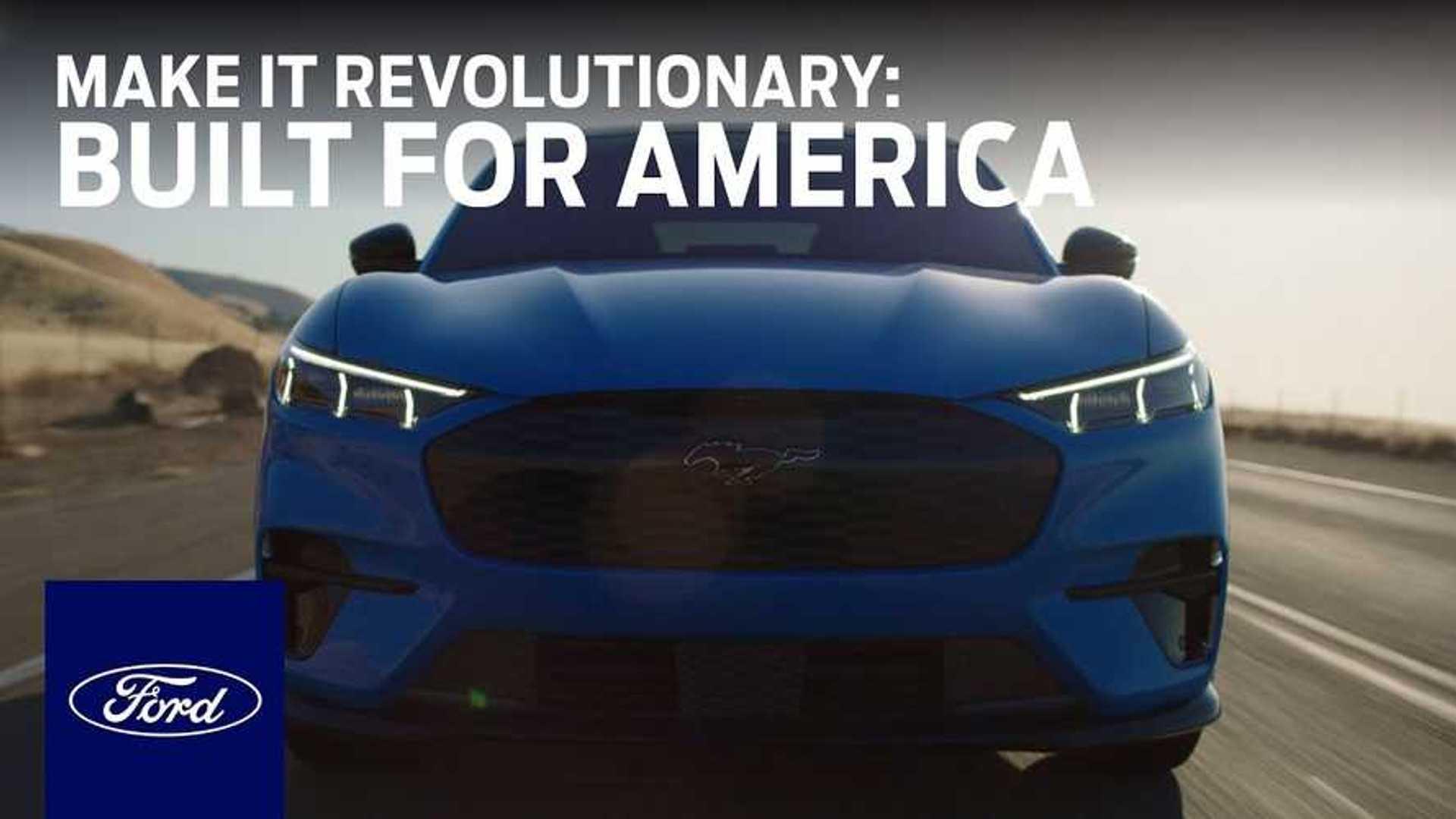 Elektrische auto's van Ford vieren hun voorouders op de commerciële Olympische Spelen