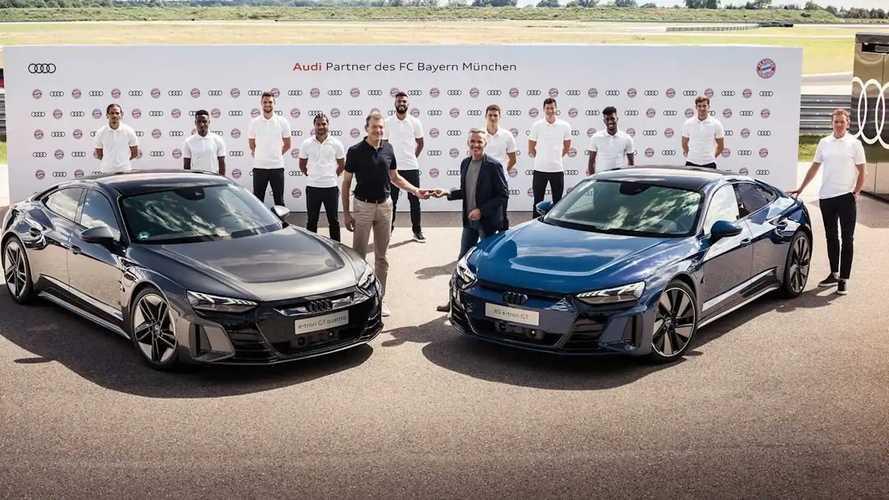 Prémium villanyautókat kaptak az Auditól a Bayern München sztárjai